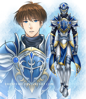 Cyronel the Azure Knight by Vhenyfire