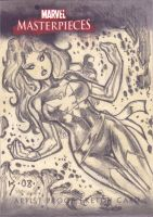 Phoenix Sketch Card by RyanKinnaird