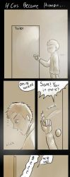 Castiel's Toilet Accident by amidarosa
