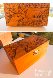 Pyrography box-remember by FuzzyMaro