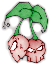 skull cherries by LUCKY13XIII