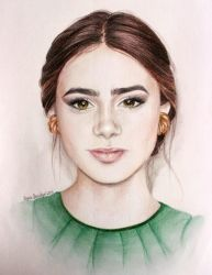 Lily Collins by OoIrynaoO