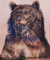 Huggy The Turpentine Creek Bear  by HouseofChabrier