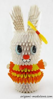 Modular Origami Mrs. Rabbit by origamimodulowe