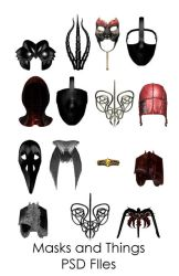 Masks and Things PSD files by WitsResources