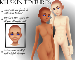KH Nude Torso and Old Face Textures: DL by MMDKoala