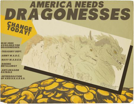 America Needs Dragonesses! by nothere3