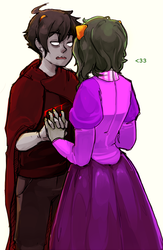 Karkat and Nepeta by Fuocofuu