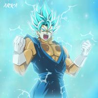 Vegetto Super Saiyan Blue - Super Saiyajin Azul by CFFC2010