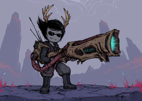 Dammek with a huge cannon. yeah. by RovingNeophyte