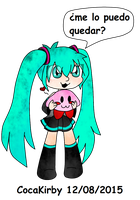 Miku y Kirby  by cocakirby