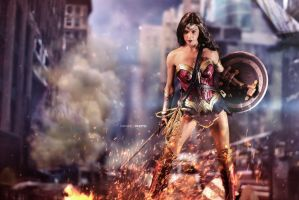 Battle Ready Wonder Woman by BornTewSlow