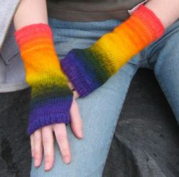 Energy Spectrum arm warmers by StarTyrian