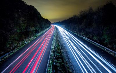 Motorway light streaks by ViperKid89