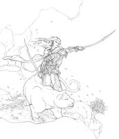 Drizzt at Dawn by Inkthinker