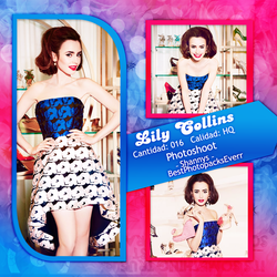 Photopack 1626 - Lily Collins by southsidepngs