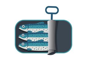 Can Of Sardines Free Vector by superawesomevectors