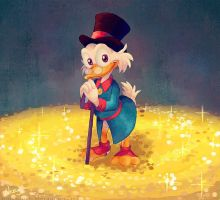 Uncle Scrooge's treasures by MissNeens