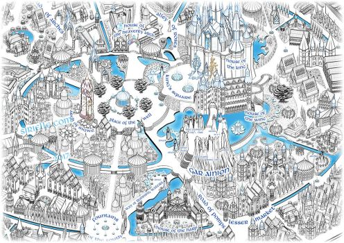 Ondolinde map close up - city center by Sirielle