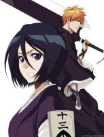 Ichigo and Rukia (Rendered) by KelvinCheng