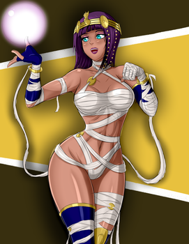 Menat BATTLE COSTUME by ZantyARZ