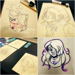 Table Sketches by EmmersDrawberry