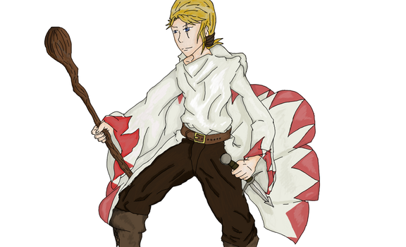 Battle White Mage, basic Concept by zetra3