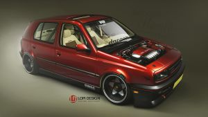 VW Golf MKIII dapper by Lopi-42