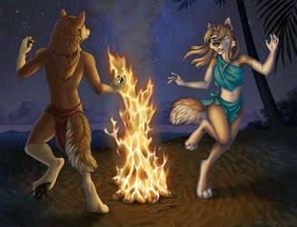 Fire dance 2 by Jay-Kuro