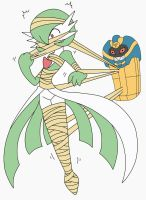 :REMAKE: Cofagrigus Uses Bind on Gardevoir