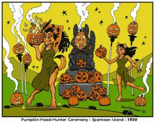 Pumpkin-Head-Hunter Ceremony, Spontoon Island 1930 by KenFletcher