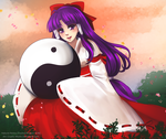 Touhou Challenge #3 - Hakurei Reimu [PC98 Ver.] by Cryptic-Mystic