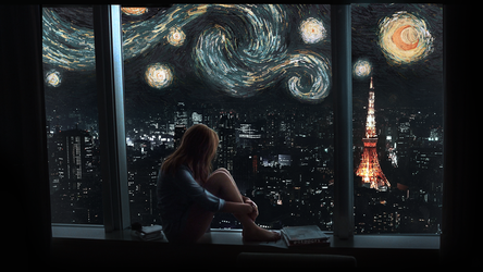 lost in starry night by Gedogfx