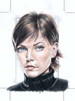 Ezri Dax Original art Sketchcard by comicsINC