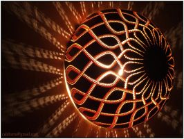 Gourd lamp bracket IV -night 3 by Calabarte
