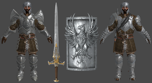 DAI Blackwall Armours and Warden Shield+Sword XPS by Padme4000