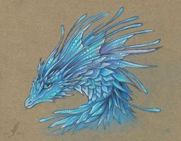 Crystal blue dragoness by AlviaAlcedo