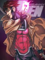 X-Men Gambit by nicoyguevarra
