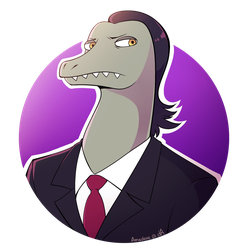 [SvtFoE] The Lawyer Lizard by Saccharinerose