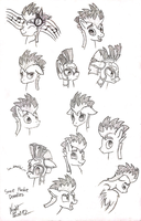 Some Flashie Doodles by NightPaint12