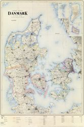 Vintage style map of Denmark by Regicollis