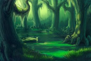 Swamp foraging grounds by hibbary