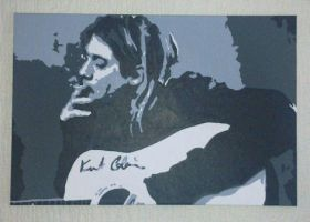 Kurt Cobain Smoking Canvas by covtown31