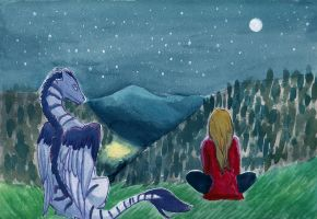 You and me and the stars by Sparr0wlicious