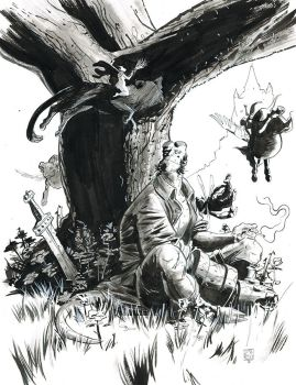 Hellboy Commission by Stephen-Green