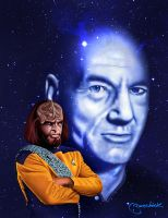 Picard and Worf by jlbanchick