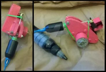 [ handmade ] Pink rotary tattoo machine by MankyMind
