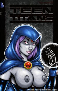 Naughty Raven bust cover by gb2k