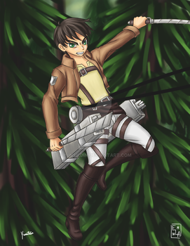Attack on Titan Eren by Yunsildin