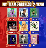 My TF2 Team by lightyearpig